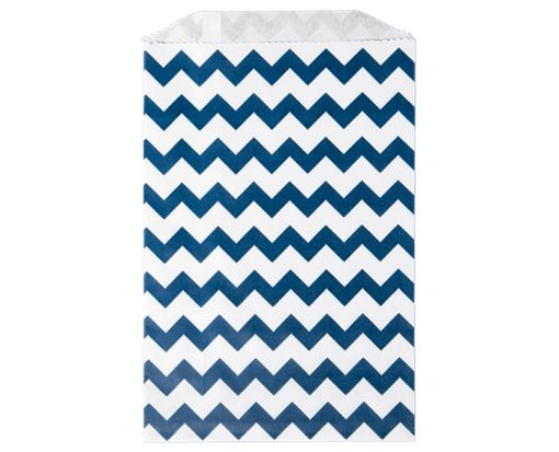Middy Bitty Bag (5 x 7 1/2) - Navy Chevron Navy Chevron