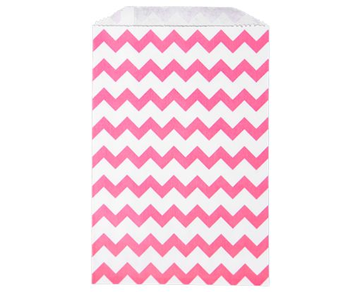 Middy Bitty Bag (5 x 7 1/2) - Pink Chevron Pink Chevron