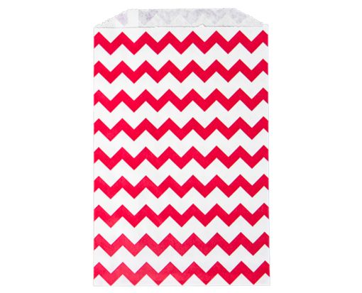Middy Bitty Bag (5 x 7 1/2) - Red Chevron Red Chevron