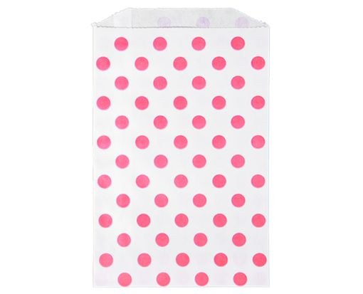 Middy Bitty Bag (5 x 7 1/2) - Pink Polka Dot Pink Polka Dot