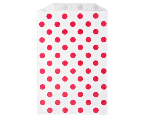 Middy Bitty Bag (5 x 7 1/2) - Red Polka Dot Red Polka Dot
