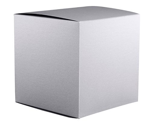 Medium Cube Gift Boxes (3 17/32 x 3 9/16 x 3 17/32) Silver Metallic