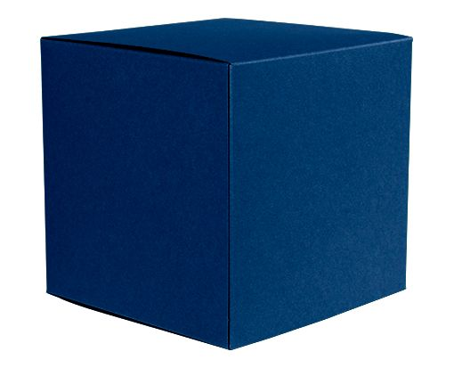 Medium Cube Gift Boxes (3 17/32 x 3 9/16 x 3 17/32) Navy