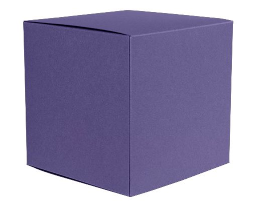 Medium Cube Gift Boxes (3 17/32 x 3 9/16 x 3 17/32) Wisteria