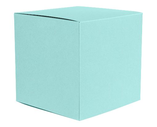 Medium Cube Gift Boxes (3 17/32 x 3 9/16 x 3 17/32) Seafoam