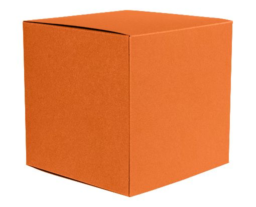 Medium Cube Gift Boxes (3 17/32 x 3 9/16 x 3 17/32) Mandarin