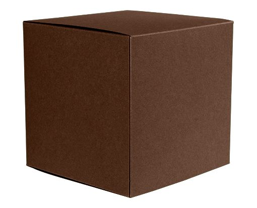 Medium Cube Gift Boxes (3 17/32 x 3 9/16 x 3 17/32) Chocolate
