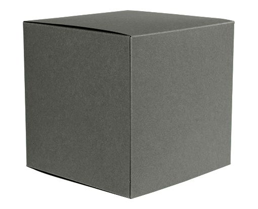 Medium Cube Gift Boxes (3 17/32 x 3 9/16 x 3 17/32) Smoke