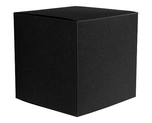 Medium Cube Gift Boxes (3 17/32 x 3 9/16 x 3 17/32) Black Linen