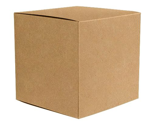 Medium Cube Gift Boxes (3 17/32 x 3 9/16 x 3 17/32) 18pt. Grocery Bag
