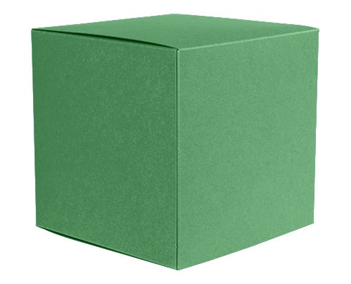 Medium Cube Gift Boxes (3 17/32 x 3 9/16 x 3 17/32) Holiday Green