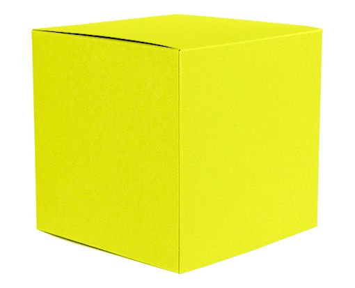 Medium Cube Gift Boxes (3 17/32 x 3 9/16 x 3 17/32) Citrus