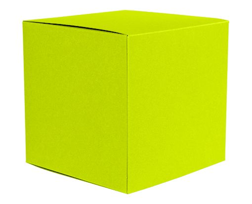 Medium Cube Gift Boxes (3 17/32 x 3 9/16 x 3 17/32) Wasabi