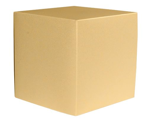 Medium Cube Gift Boxes (3 17/32 x 3 9/16 x 3 17/32) Blonde Metallic