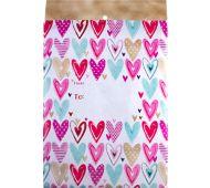 Mailing Envelope Large - Hearts