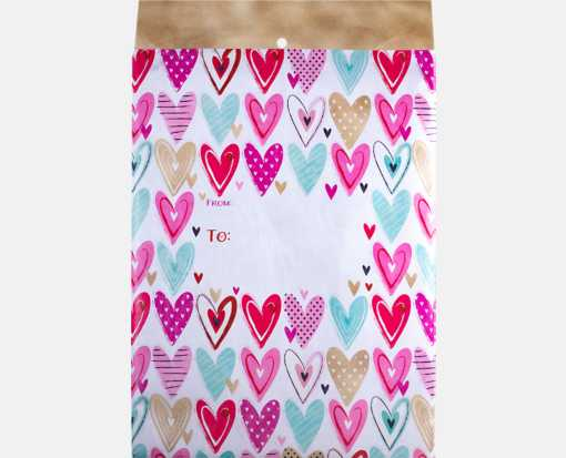 Mailing Envelope Large - Hearts Hearts