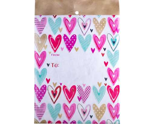 Mailing Envelope Medium - Hearts Hearts