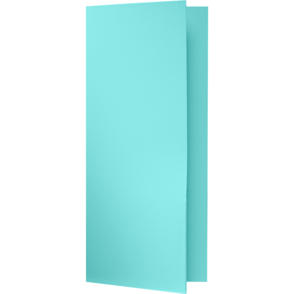4 x 9 Mini Folders - Two Pockets Seafoam