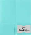 4 x 9 Mini Folders - Two Pockets Seafoam