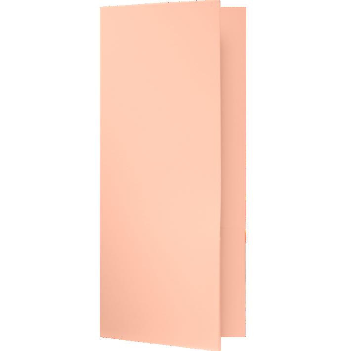 4 x 9 Mini Folders - Two Pockets Blush
