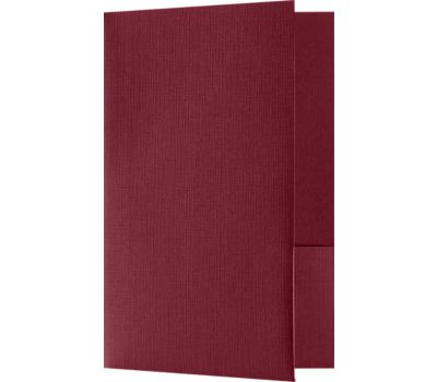 Small Presentation Folders - Two Pockets Burgundy Linen