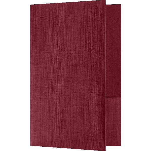 Small Presentation Folders - Two Pockets Burgundy Linen