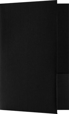 Small Presentation Folders - Two Pockets w/o Card Slits Black Linen