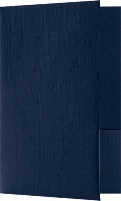 Small Presentation Folders - Standard Two Pockets Blue Linen