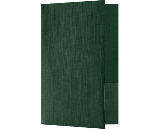 Small Presentation Folders - Two Pockets Green Linen