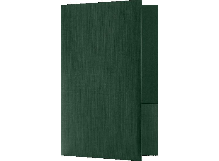 Small Presentation Folders - Two Pockets Green Linen