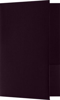 Small Presentation Folders - Two Pockets Dark Purple Linen