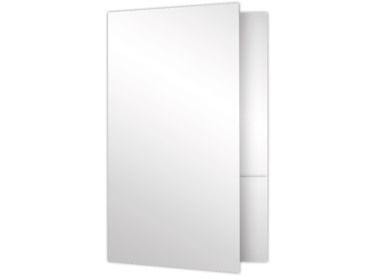 Small Presentation Folders - Two Pockets White Gloss