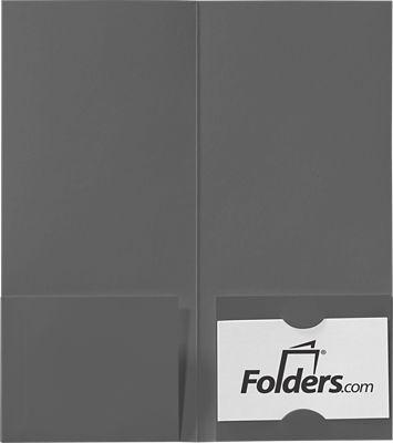 4 x 9 Mini Folders - Two Pockets Smoke