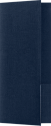 4 x 9 Mini Folders - Two Pockets Nautical Blue Linen