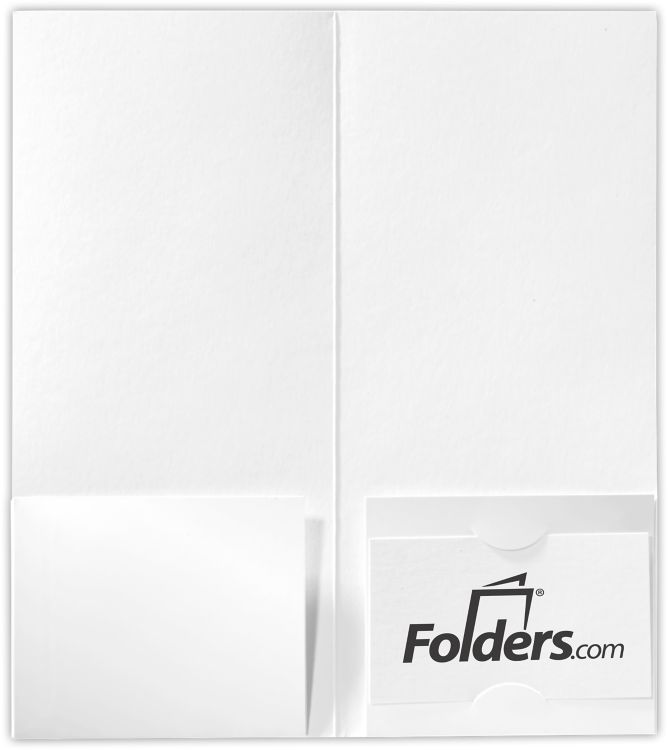 4 x 9 Mini Folders - Two Pockets White Gloss