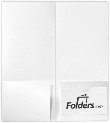 4 x 9 Mini Folders - Two Pockets White Gloss