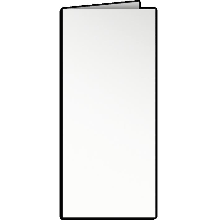 4 x 9 Mini Folder Bright White