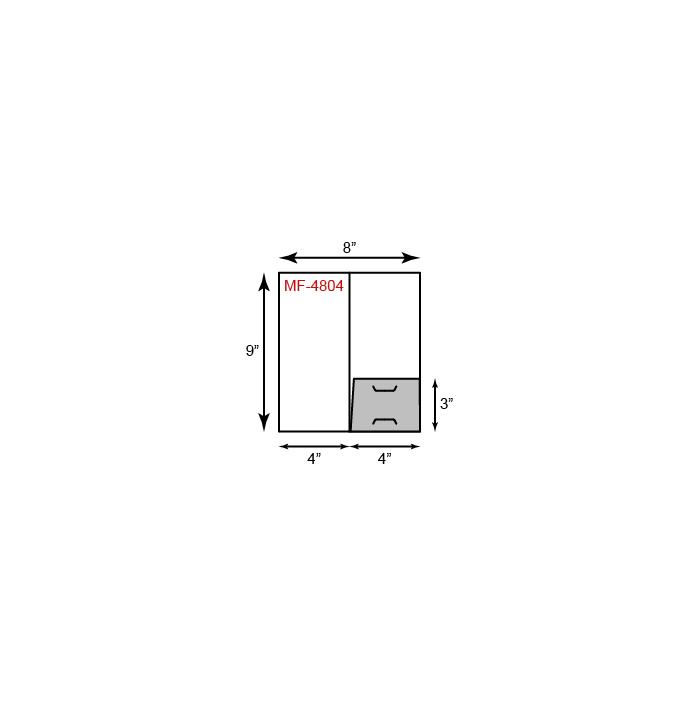 Mini Folders - One Pocket (Right)