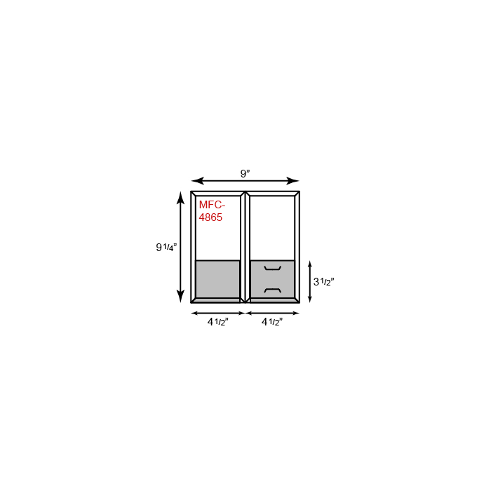 Mini CONFORMER Folders - Standard Two Pocket