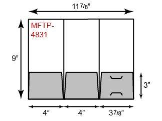 Mini Folders - Three Pocket