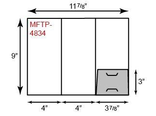 Mini Folders - Tripanel w/ One Pocket (Right)