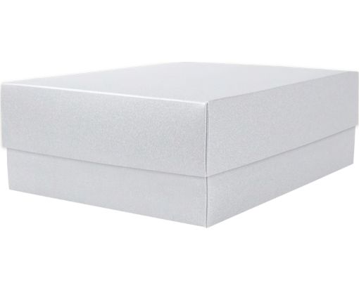 Medium Gift Boxes (5 5/8 x 7 11/16 x 2 1/2) Silver Metallic