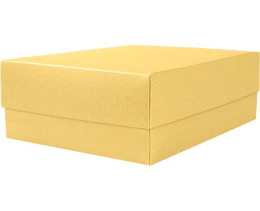 Medium Gift Boxes (5 5/8 x 7 11/16 x 2 1/2) Gold Metallic