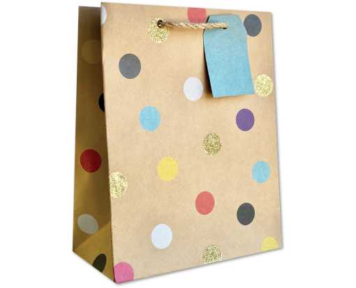 Medium (10 x 8 x 4) Gift Bag Party Dot