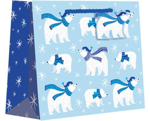 Medium (10 x 8 x 4) Gift Bag Polar Bear