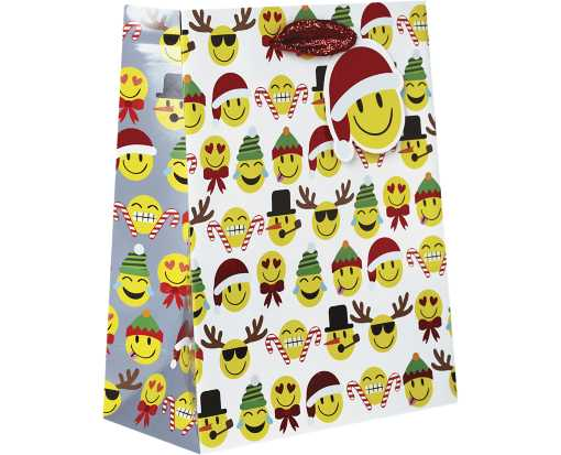 Medium (10 x 8 x 4) Gift Bag Emoji Christmas