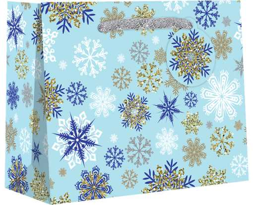 Medium (10 x 8 x 4) Gift Bag Pretty Snowflake