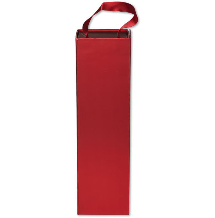 Magnetic Handle Bottle Box (4 x 13 1/2 x 4) Red