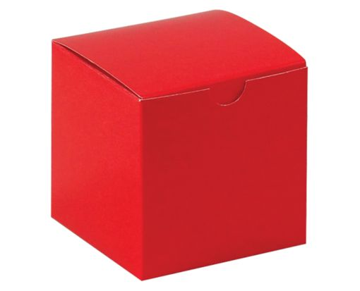 Gift Boxes (4 x 4 x 4) Holiday Red