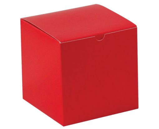 Gift Boxes (6 x 6 x 6) Holiday Red